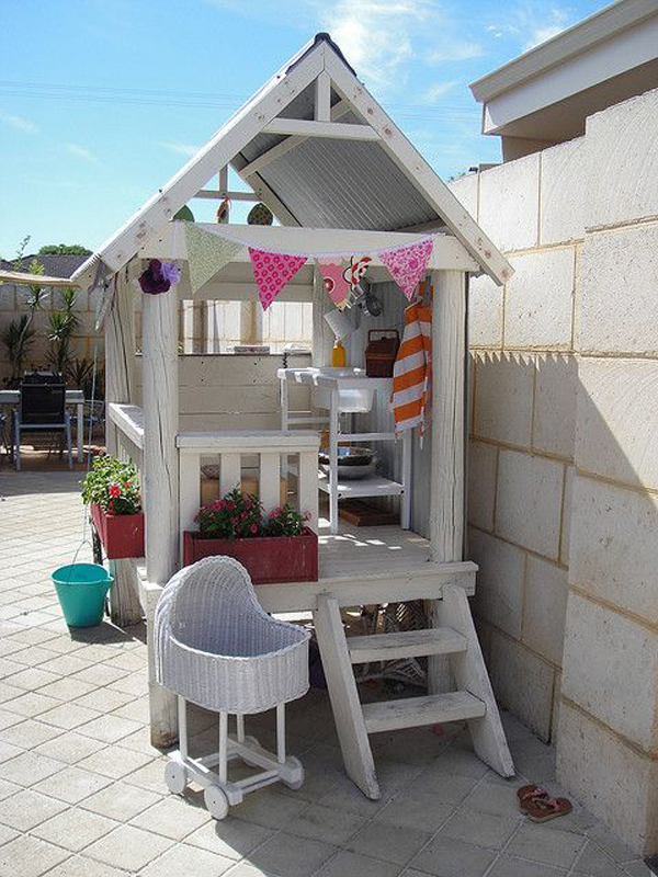 20 cheerful outdoor kids playhouses home design and interior How to build outdoor playhouse