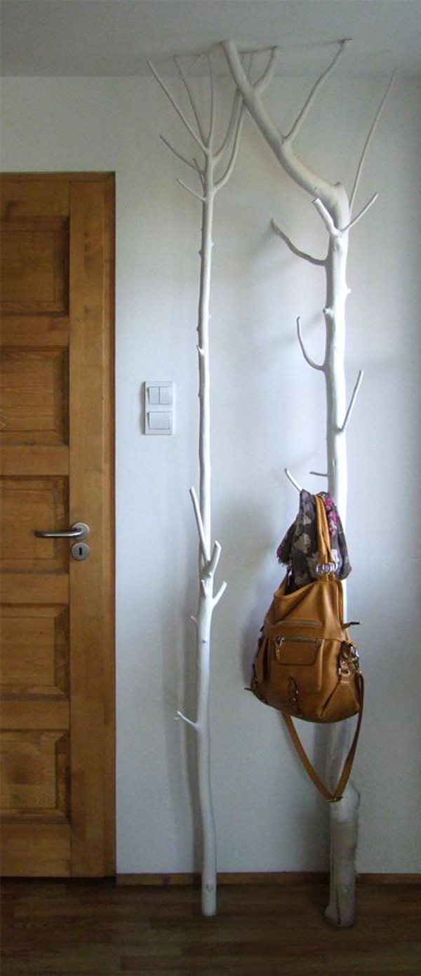 15 cool diy branch coat racks home design and interior you would surely love to have this coat rack in every room of your great idea for you who are looking for practical furniture but with something a little