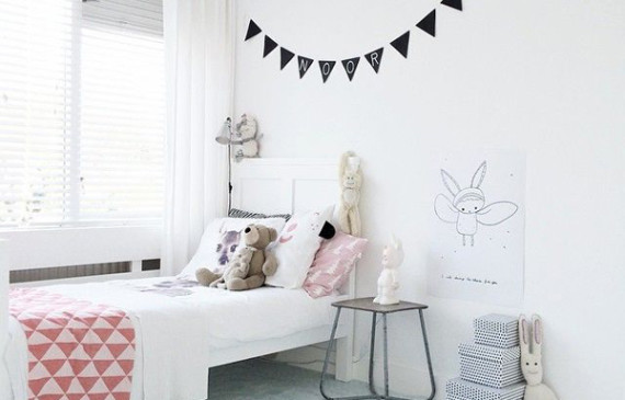 10 White And Simple Kids Room Ideas