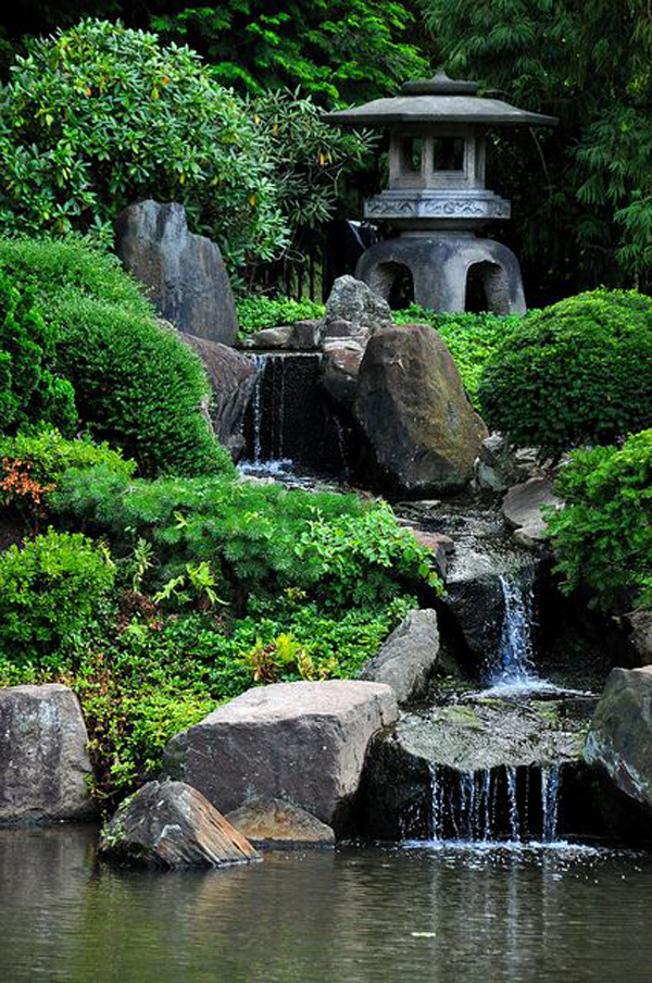 35 Dreamy Garden With Backyard Waterfall Ideas | HomeMydesign on Waterfall Ideas For Garden id=85185