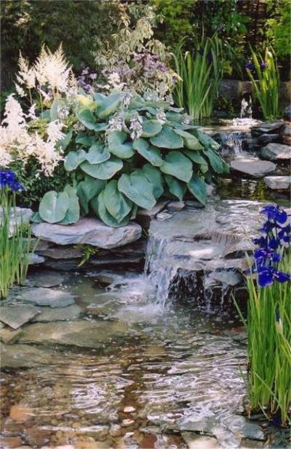 beautiful japanese garden waterfalls