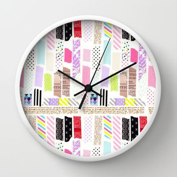 Cool clock washi tape decoration for Decoration tape