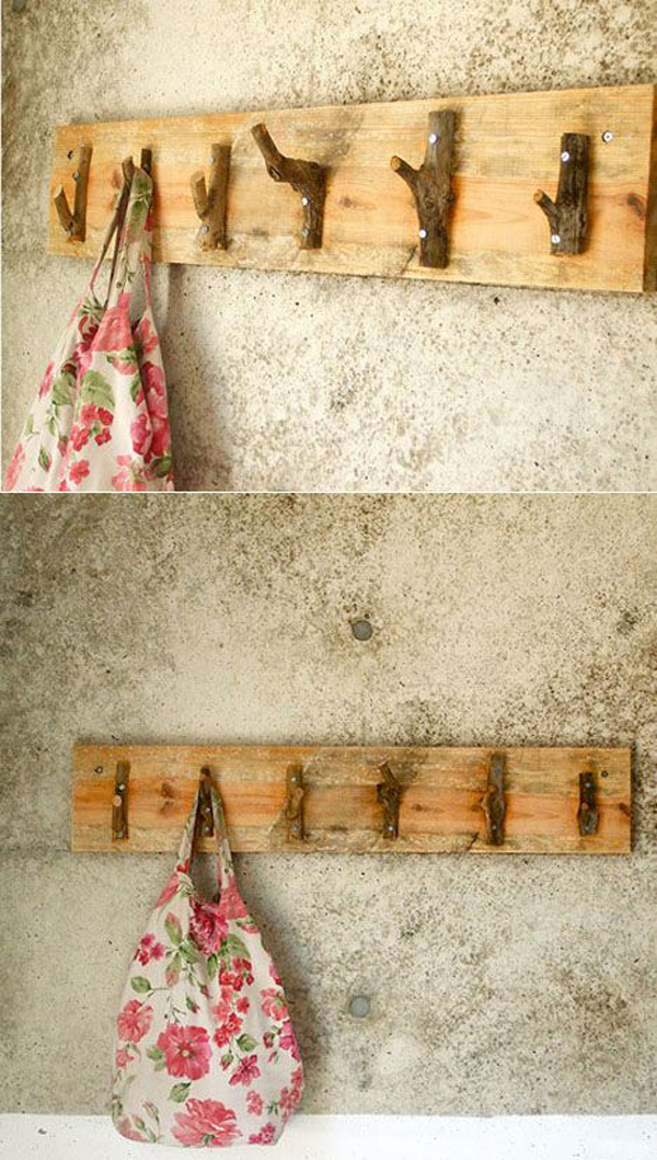 15 cool diy branch coat racks home design and interior Cute coat hooks