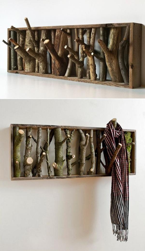 10 Coolest DIY Wall Hook And Coat Rack Ideas