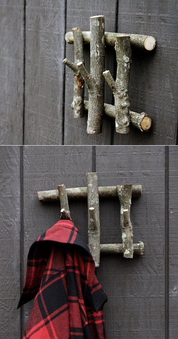 15 Cool Diy Branch Coat Racks Homemydesign