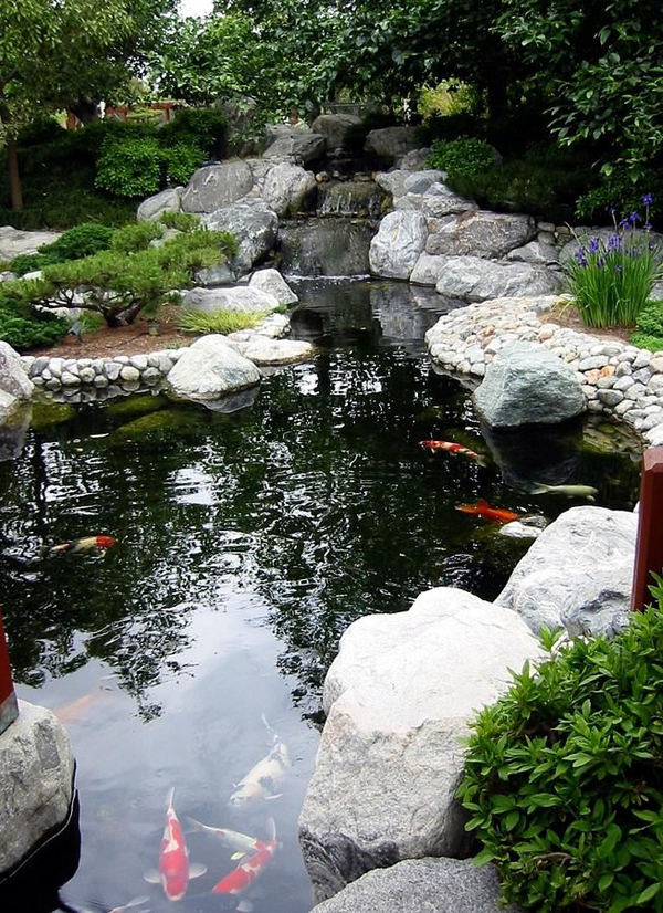garden-pond-waterfall-designs - HomeMydesign