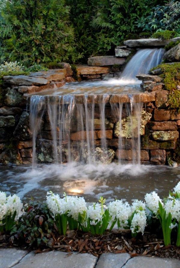 Backyard Waterfalls Ideas : 35 Dreamy Garden With Backyard Waterfall Ideas  Home Design And