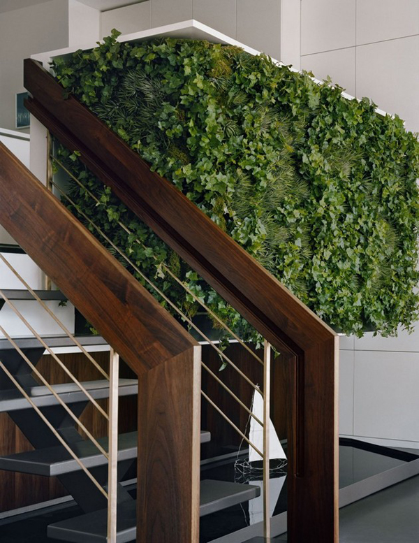 Green Vertical Garden With Stairs