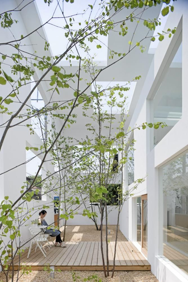 Modern japanese garden blurs the lines between indoor and for Indoor japanese garden
