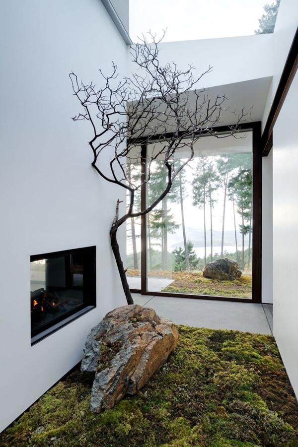 modern-japanese-garden-with-indoor-fireplaces | HomeMydesign