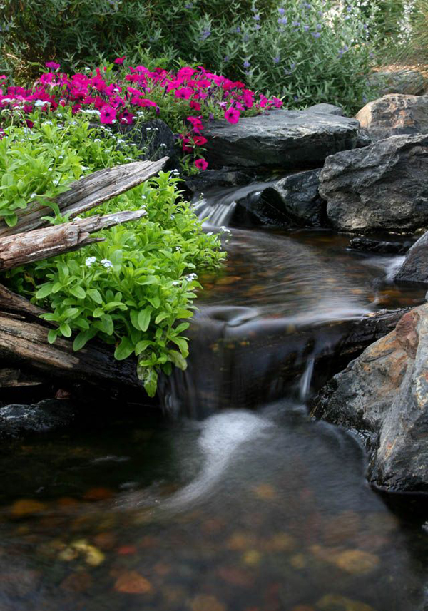 Realistic garden waterfall decor ideas