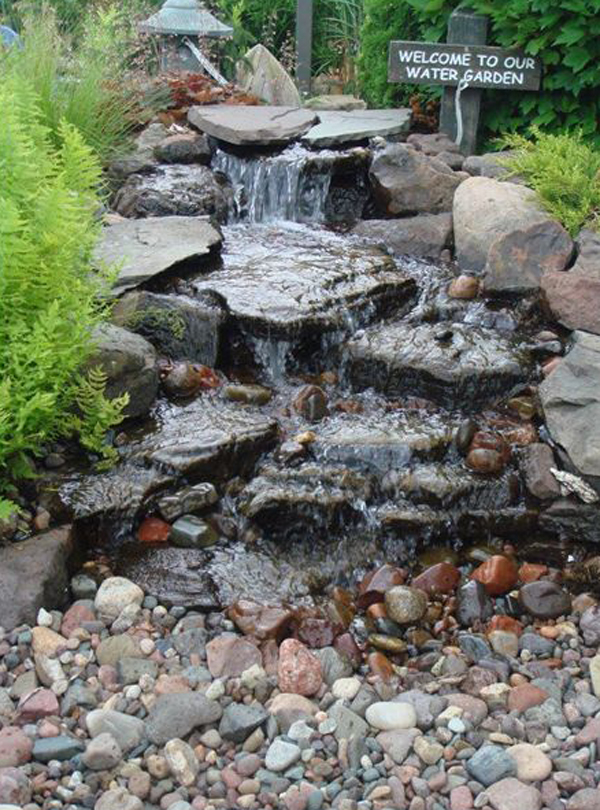 35 dreamy garden with backyard waterfall tips for Build your own waterfall pond