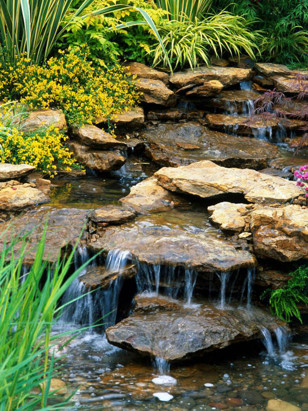 stone garden waterfall designs