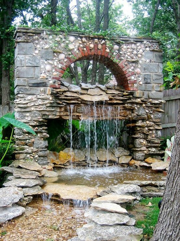 35 dreamy garden with backyard waterfall ideas home for Making a garden pond and waterfall