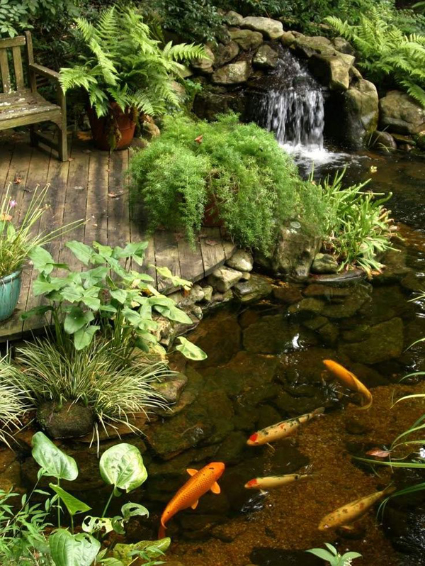 35 dreamy garden with backyard waterfall ideas home design and interior Small backyard waterfalls and ponds