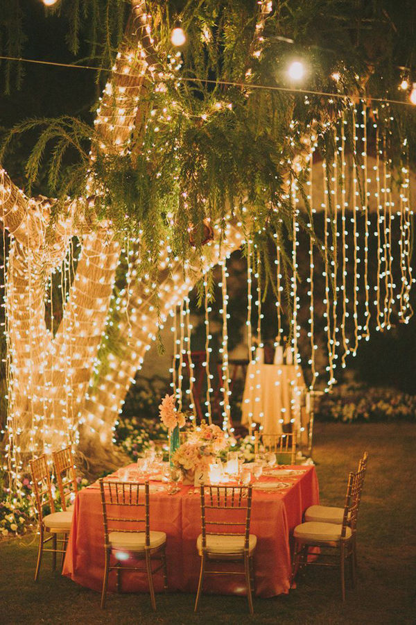 Unique backyard lighting in outdoor dining area mozeypictures Image collections