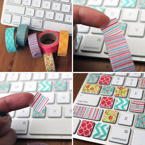 20 low cost diy washi tape designs decorazilla design blog for Washi tape project ideas