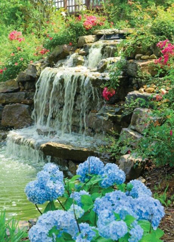 35 Dreamy Garden With Backyard Waterfall Ideas | HomeMydesign on Waterfall Ideas For Garden id=78913