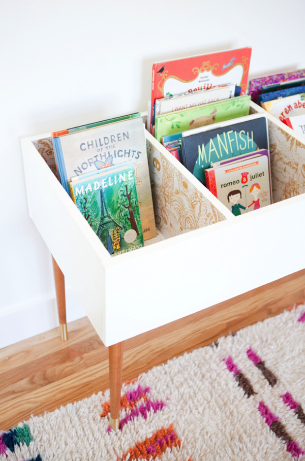 Awesome DIY Kids Book Bin Projects