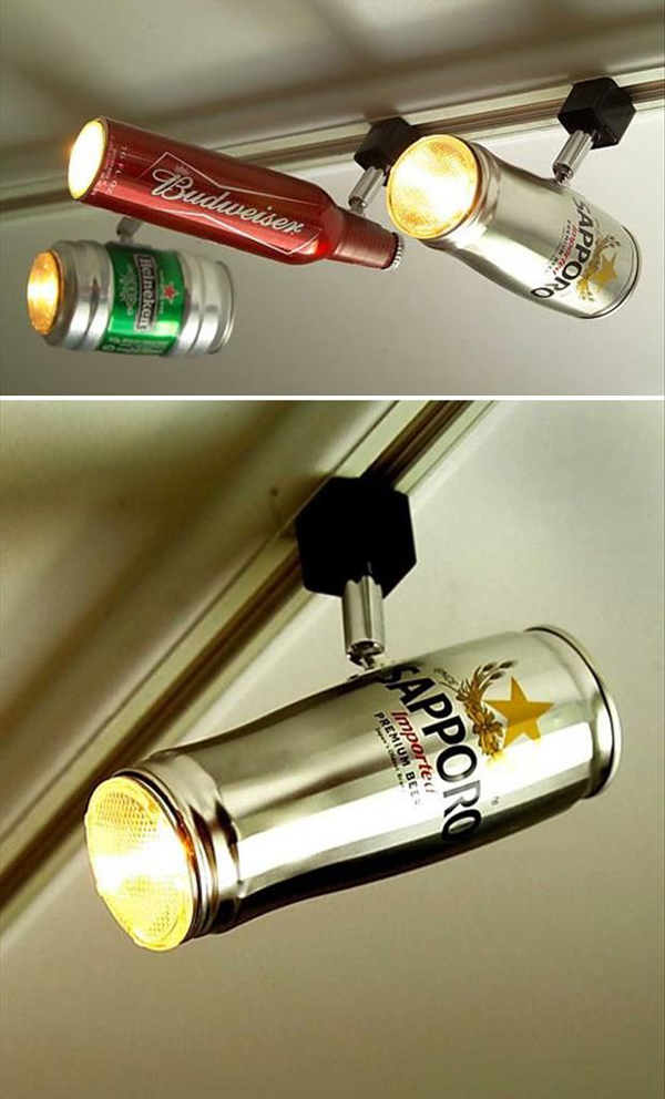 Bedroom track lighting - Diy Man Cave Lighting Ideas