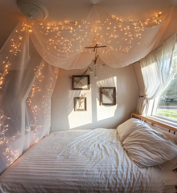 bedroom lights string 25 cool diy string light ideas home design and interior 10546