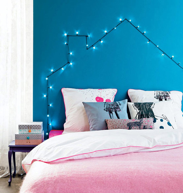 String Lights Interior Design : 25 Cool DIY String Light Ideas Home Design And Interior
