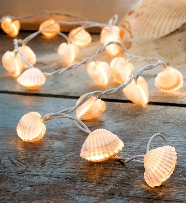 Diy With String Lights : diy-sea-shell-string-lights