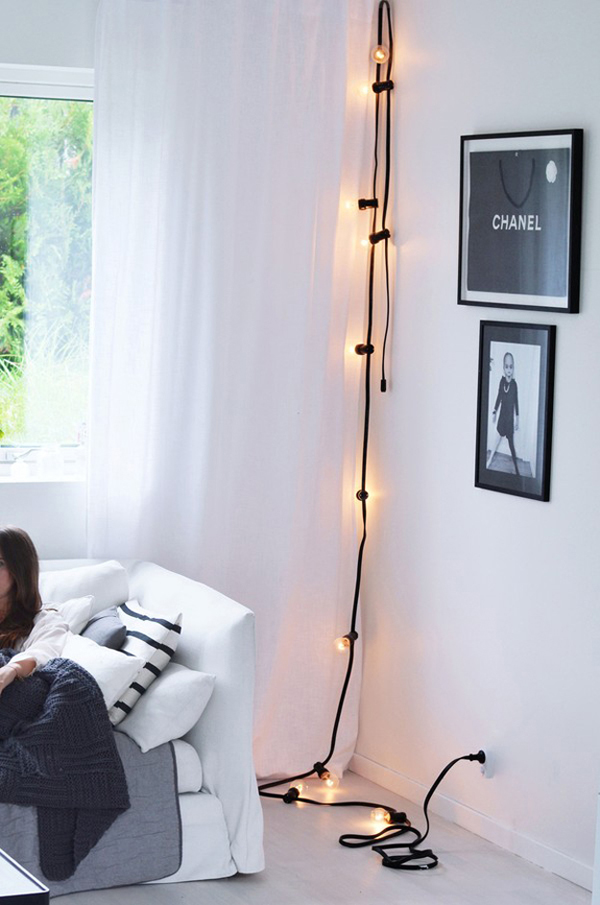 25 Cool DIY String Light Ideas