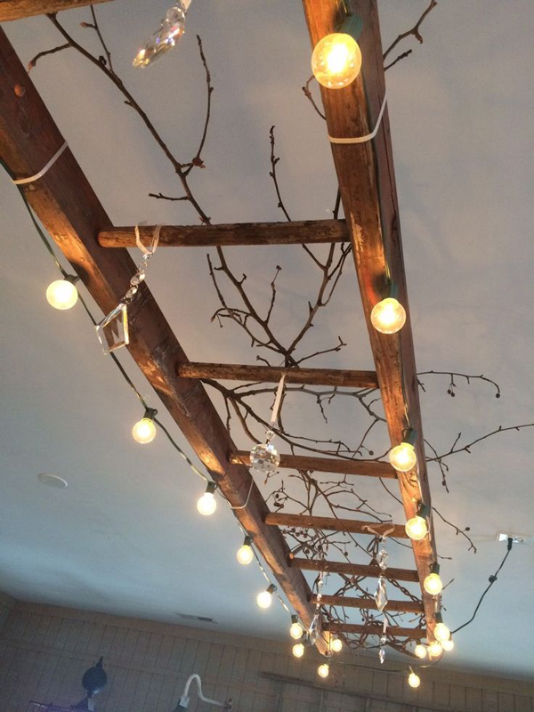 Diy Vintage Ladder String Lights