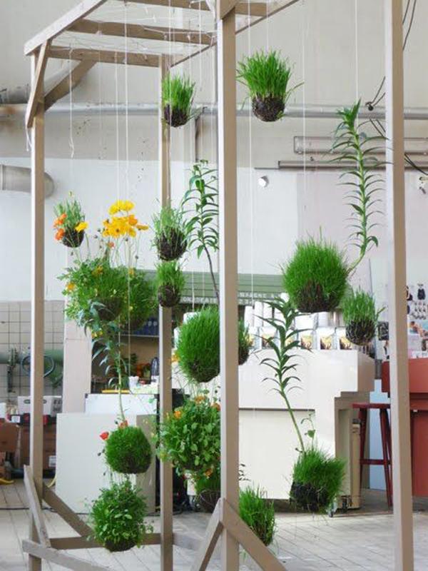 20 beautiful kokedama string garden ideas home design and interior. Black Bedroom Furniture Sets. Home Design Ideas