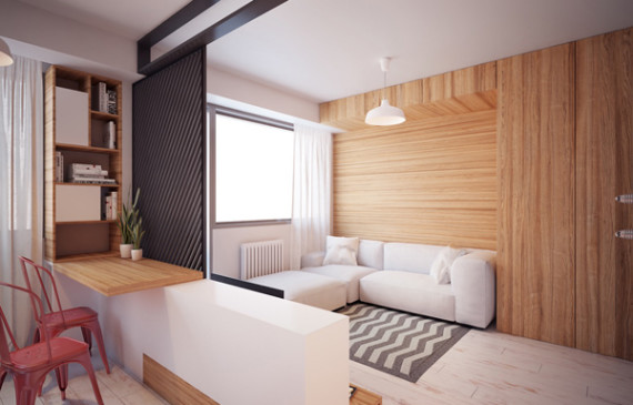 living-room-with-wood-panel-walls