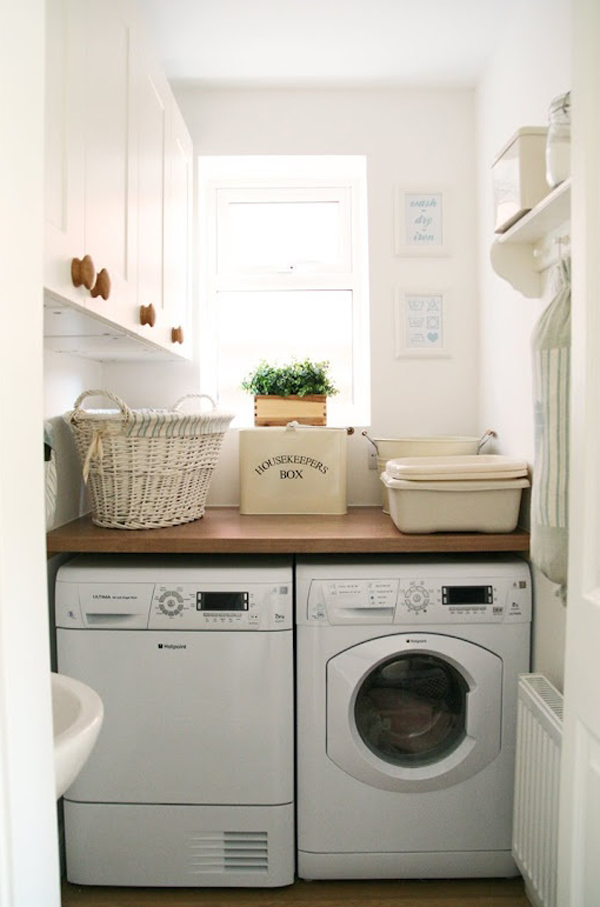 15 tiny laundry spaces with functional ideas home design and interior - Laundry room designs small spaces set ...