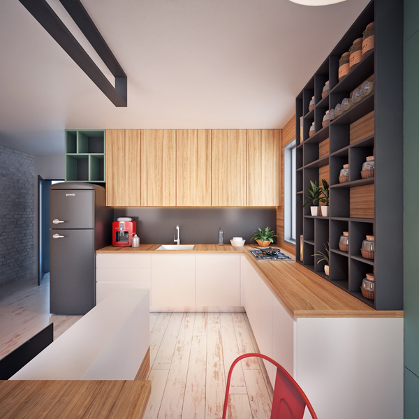 6 Beautiful Home Designs Under 30 Square Meters With: Two Tiny Apartment Under 40 Square Meters By Nikola