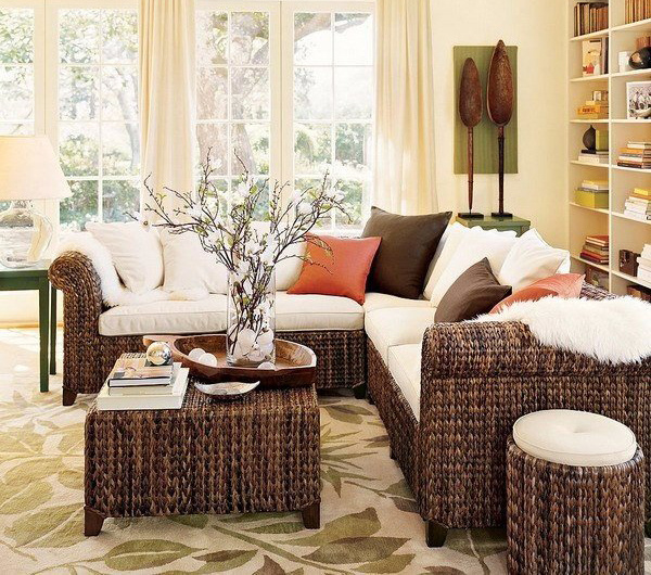 wicker-living-room-furniture