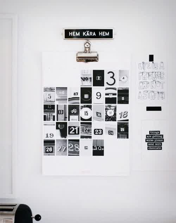 Calendar Design Photo : Diy collage wall calendar