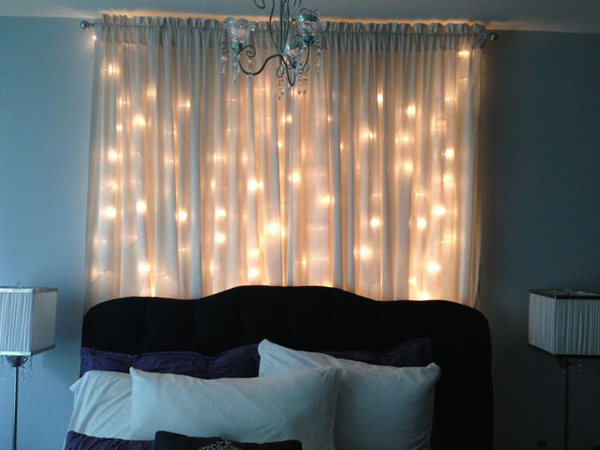 Chocolate Curtains With Valance Snowfall Curtain Lights