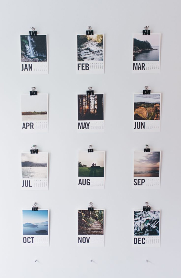 Diy Year Calendar : Genius diy wall calendar projects home design and