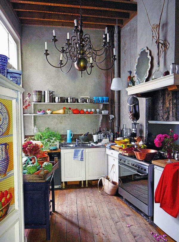 20 most amazing kitchen with bohemian vibe home design for Kitchen ideas eclectic