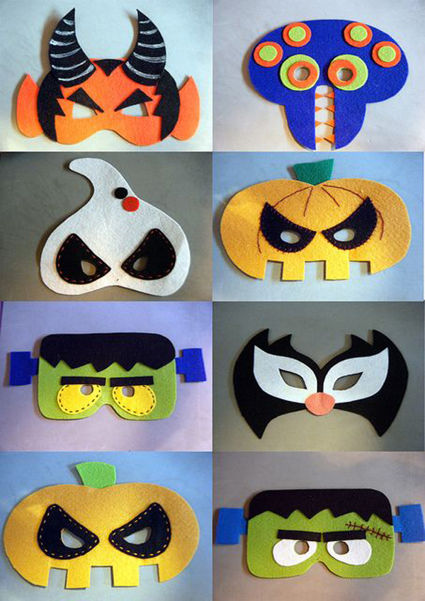 Kids halloween party mask for Things to make for halloween decorations
