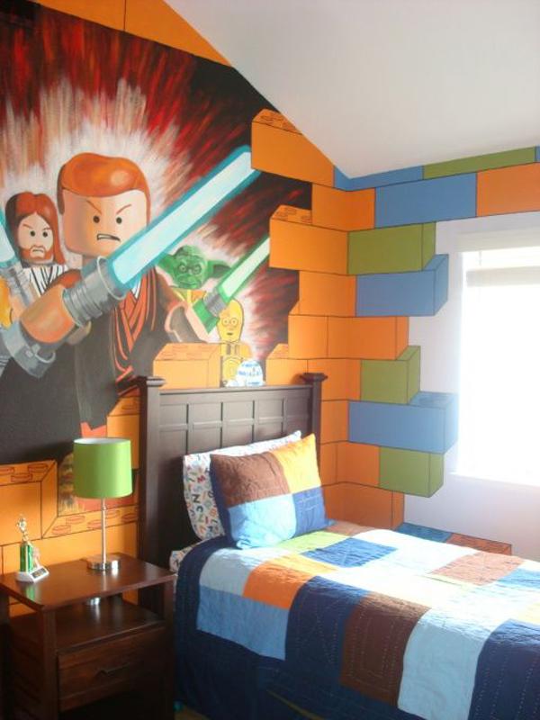 Lego bedroom wallpaper for Boys star wars bedroom ideas