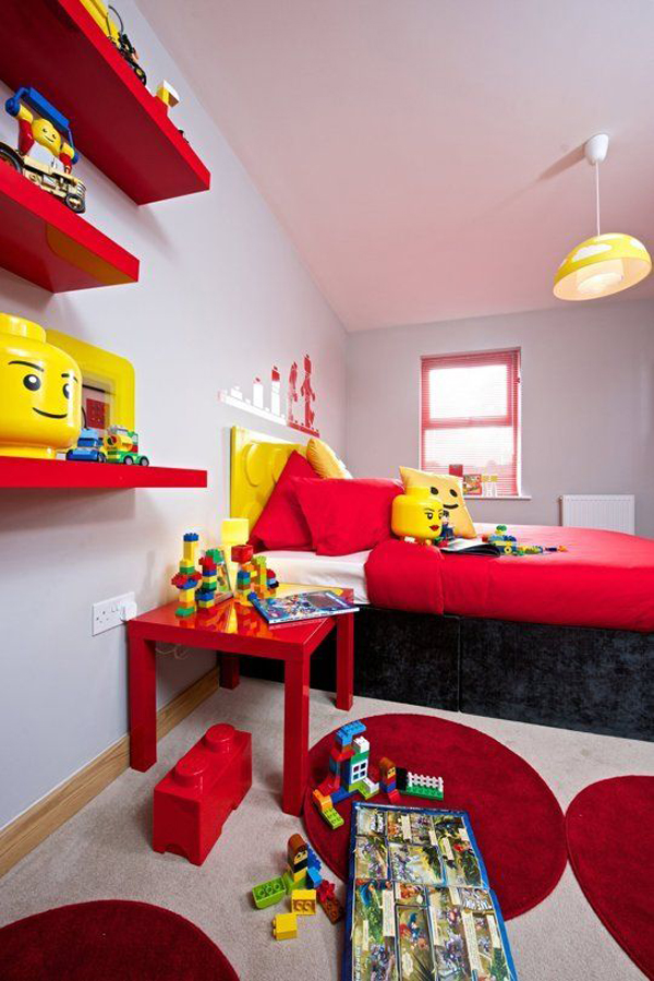 10 best kids bedroom with lego themes home design and for Kid room decor