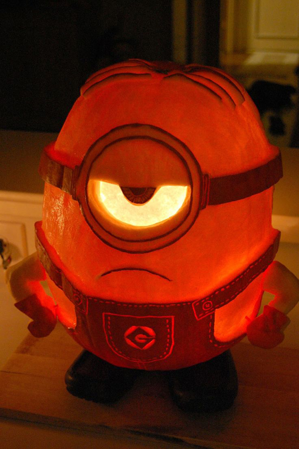 extreme pumpkin carving templates - 25 cool diy minion pumpkins for halloween home design