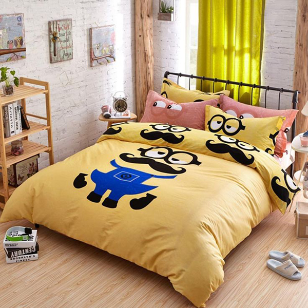 Minion Sheets Queen. Minion Queen Size Bedding ...