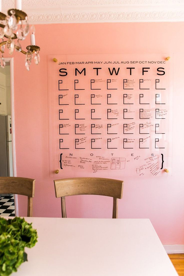 Diy Large Wall Calendar : Genius diy wall calendar projects home design and