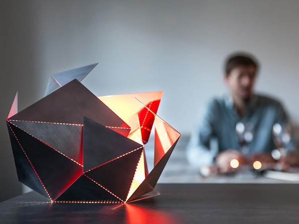 Unique And Personal Origami Lamp Of Steel Home Design And Interior