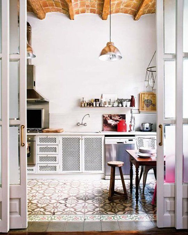 White Bohemian Kitchen