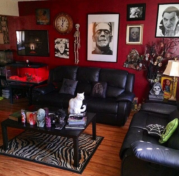 Black and red gothic living room - Living room ideas black white and red ...