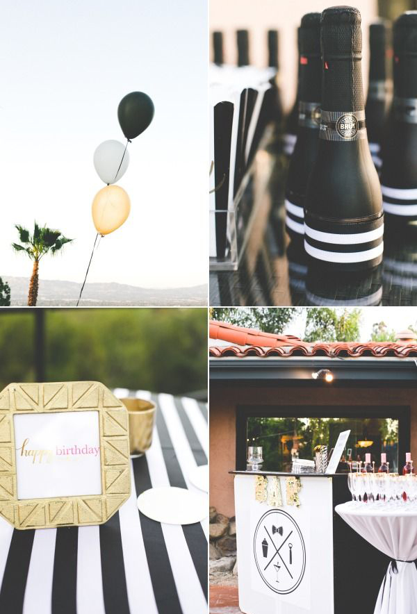 Chic Black White And Gold Birthday Party Theme