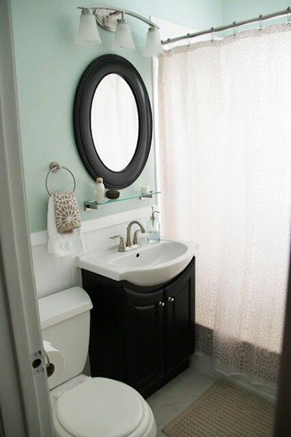 cozy small bathroom with soft color