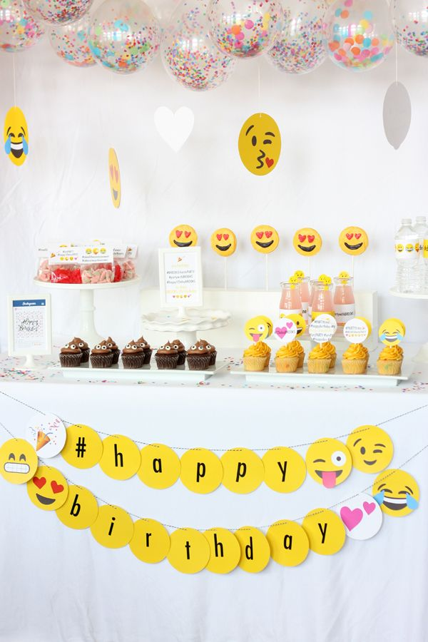 Cute Emoji Girl Party Ideas